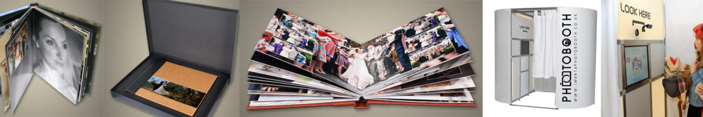Platinum Wedding Photography Package includes a 10 x 12 inch acrylic album and Photo Booth Hire