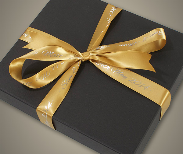 Album Box Showing Personalised Ribbon