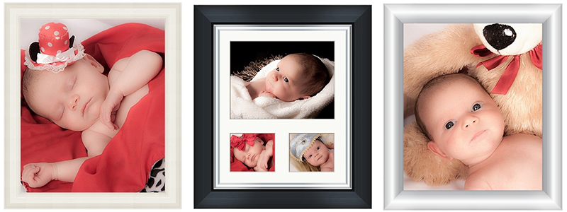 12 x 10 inch frame with single image and triple image 2 x 6 x 3″ inch