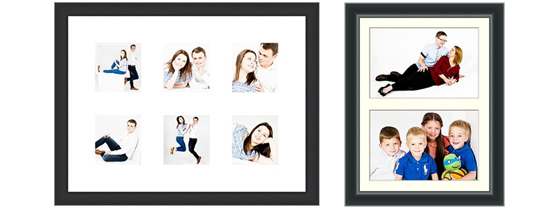 16 x 12 inch frame with six images 6 x 3 x 2.5 inch and double image 2 x 10 x 6.5 inch