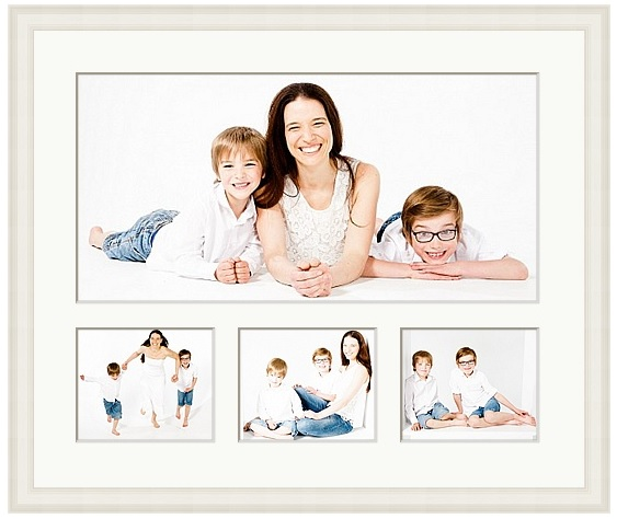 24 x 20 inch frame with four images 20 x 10 inch + 3 x 6 x 5 inch